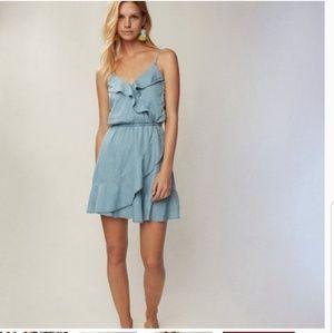 Express Denim Ruffle Dress